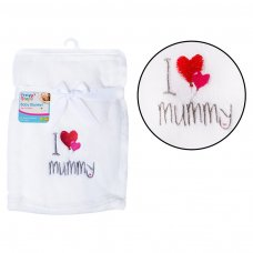 FS737: Supersoft I ♥ Mummy Fleece Baby Blanket
