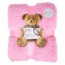 FS745: Kids Pink Super Soft Sherpa Blanket 100x150cm