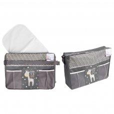 FS763: Grey Shoulder Changing Bag & Mat