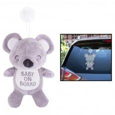 FS780: Baby on Board Teddy Car Sign