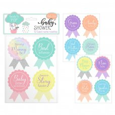 FS805: Baby Shower 12 Pack Guest Stickers