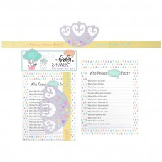 FS809: Baby Shower 12 Pack Who Knows Mummy Best Game