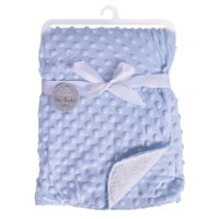 FS840: Blue Bubble Mink Sherpa Baby Blanket
