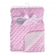FS841: Pink Bubble Mink Sherpa Baby Blanket