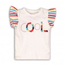 Funhouse 2: Slub T-Shirt With Striped Sleeves (9 Months-3 Years)