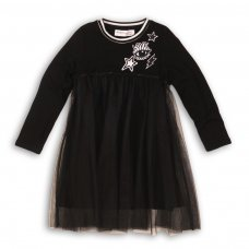 Frosted 7: Net Layered Jersey Dress With Badges (3-8 Years)