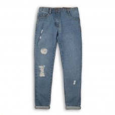 Gleam 5P: Boyfriend Jean With Iridescent Foil Print (8-13 Years)