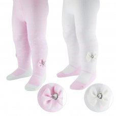 GT58: Infants Printed Heart Gift Tights (0-12 Months)