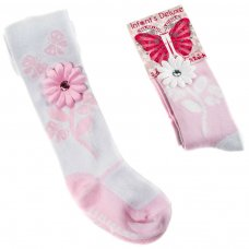 GT60: Infants Flower Gift Tights (0-12 Months)