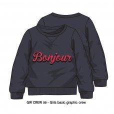 GW CREW 9: Girls Bonjour Fleece Crew Sweater (3-8 Years)