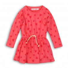 GW DRESS 3: Girls Red Hearts Dress (9 Months-3 Years)