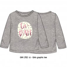 GW LTEE 12: Girls Ta Dah Long Sleeve Top (9 Months-3 Years)