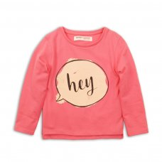 GW LTEE 13P: Girls Hey Long Sleeve Top (8-13 Years)