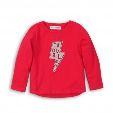 GW LTEE 7: Girls Trouble Long Sleeve Top (9 Months-3 Years)