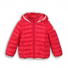 GW PAD 44: Girls Pink Trim Puffa Jacket (9 Months-3 Years)