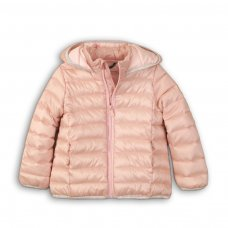 GW PAD 46: Girls Dusky Pink Trim Puffa Jacket (9 Months-3 Years)