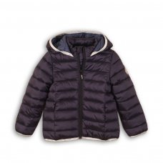 GW PAD 52: Girls Dusky Pink Trim Puffa Jacket (3-8 Years)