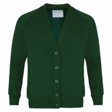 School Cardigan - Bottle Green