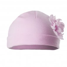 H11-P: Plain Pink Hat w/Large Flower (0-18 Months)