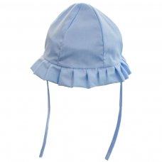 H20-B: Blue Plain Cloche Hat (0-24 Months)
