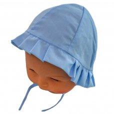H20-B: Blue Plain Cloche Hat (0-24 Months)