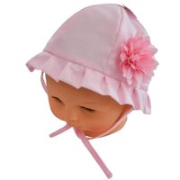 H22: Plain Hat w/Large Flower (0-24 Months)