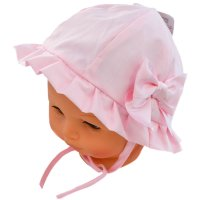 H24: Plain Hat w/Large Bow (0-24 Months)