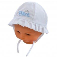 H26: Plain Hats w/Prince Emb (0-24 Months)