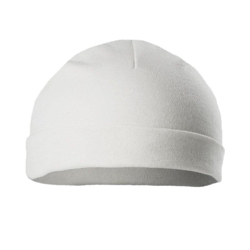 H3-W-BP: Plain White Hat (Newborn-3 Months)