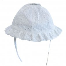 H30: Plain Broderie Anglaise Hat (0-24 Months)