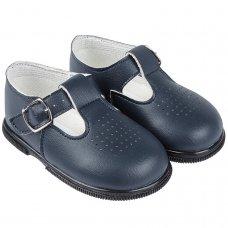 H501: Baby Hard Soled Shoe- Navy (Shoe Sizes: 2-6)