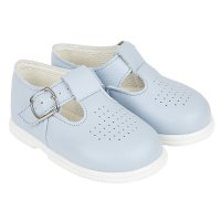 H501: Baby Hard Soled Shoe- Sky (Shoe Sizes: 2-6)