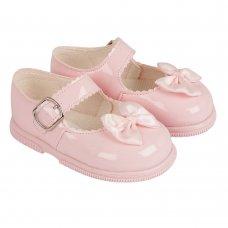 H505: Baby Girls Hard Soled Shoe- Pink (Shoe Sizes: 2-6)