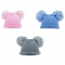 H510: Coloured Knitted Hat (0-12m)