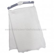 H9378: Baby Luxury Knitted Shawl- White