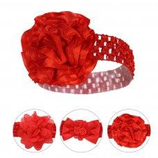 HB108-X: Red Crochet Headband