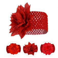 HB110-X: Red Crochet Headband