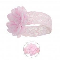 HB43-P: Lace Headband w/Lace Flower
