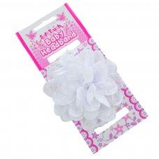 HB43-W: Lace Headband w/Lace Flower