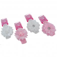 HB70: Crochet Headband w/Flower