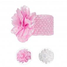 HB80: Crochet Headband w/Large Spotty Flower