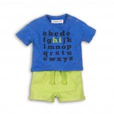 Holiday 1P: 2 Piece Slub T-Shirt & Acid Wash Fleece Short Set (12-24 Months)