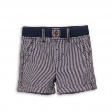 Holiday 5: Stripe Short With Contrast Rib Waistband (0-12 Months)