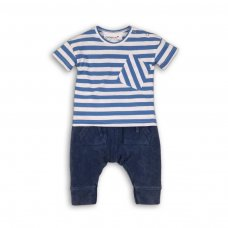 Holiday 6P: 2 Piece Striped T-Shirt & Pique Jogpant Set (12-24 Months)