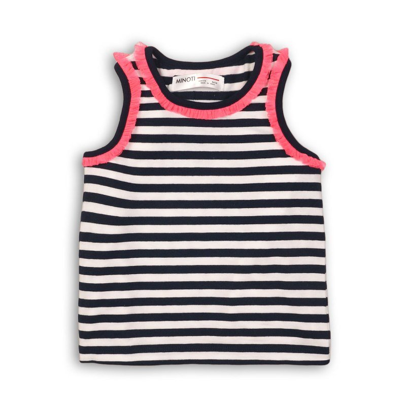 Hut 7: Striped Vest With Mesh Detail (9 Months-3 Years)