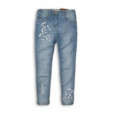 Hydrangea 7: Embroidered Skinny Denim Jean (3-8 Years)