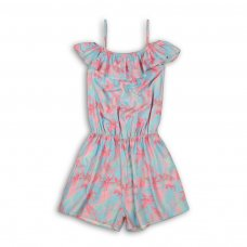 Island 1: Frill Neck Viscose Playsuit (3-8 Years)
