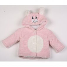 K2554: Baby Bunny Coral Fleece Padded Jacket (3-12 Months)