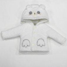 L2105: Baby Panda Padded Fur Jacket (3-12 Months)