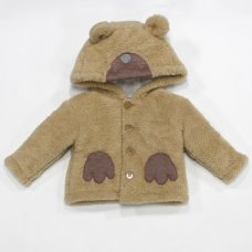 L2108: Baby Bear Padded Fur Jacket (3-12 Months)